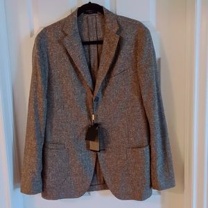 NWT MASSIMO DUTTI  BROWN  SPORT COAT MADE IN ITALY